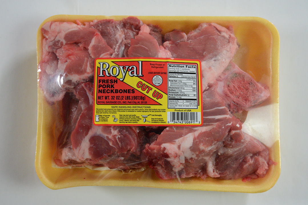 Royal Fresh Pork Neckbones   Royal Quality Meats